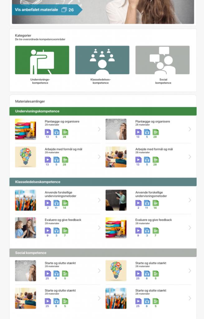 En digital platform med udgangspunkt i Kompetencehjulet